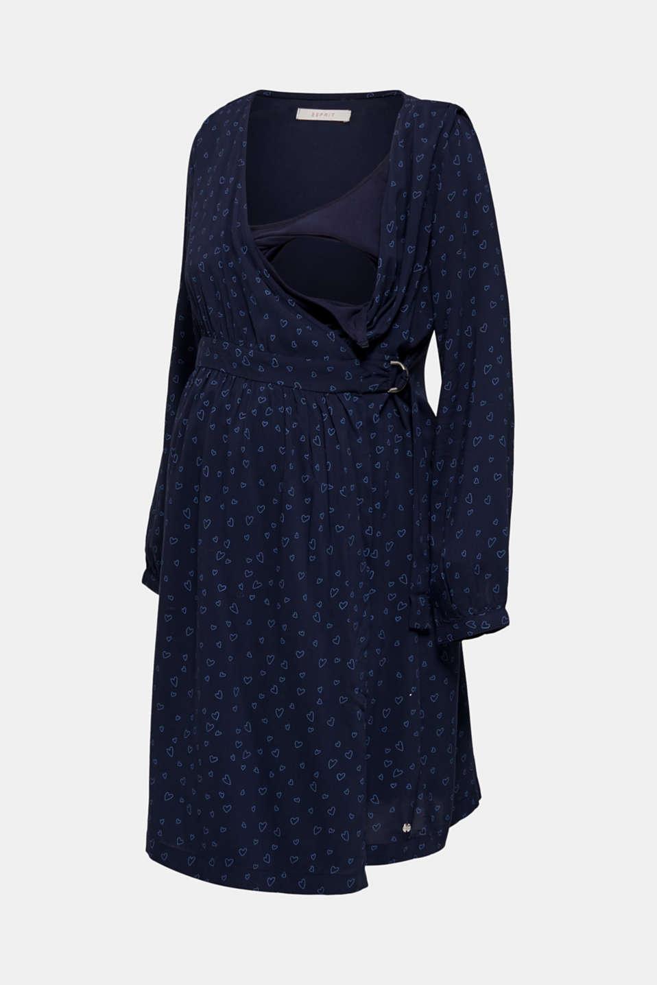 Print nursing dress, LCNIGHT BLUE, detail image number 6