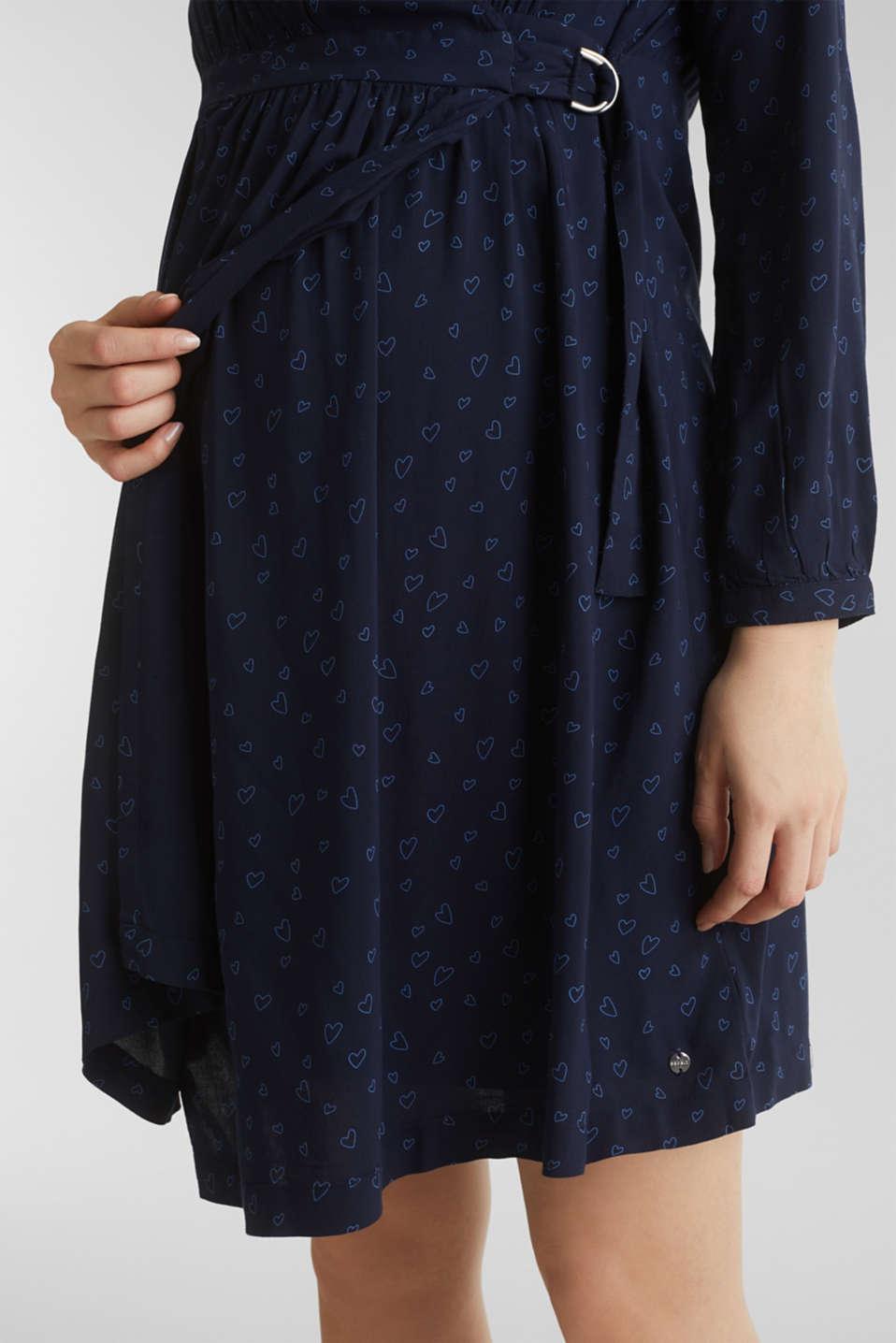 Print nursing dress, LCNIGHT BLUE, detail image number 2