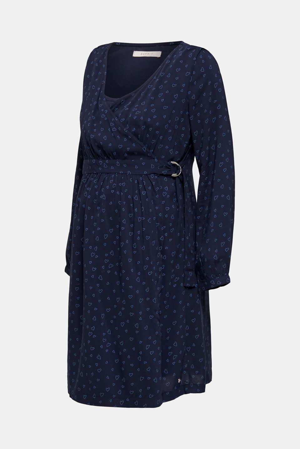 Print nursing dress, LCNIGHT BLUE, detail image number 7