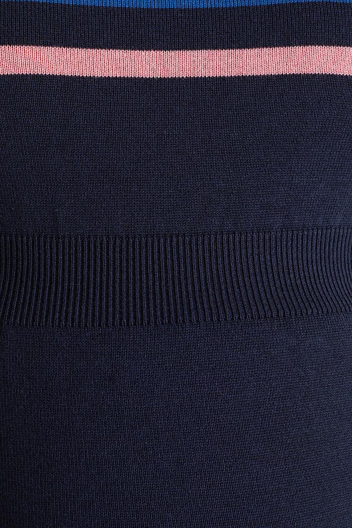 Feinstrick-Kleid mit Blockstreifen, NIGHT BLUE, detail image number 4