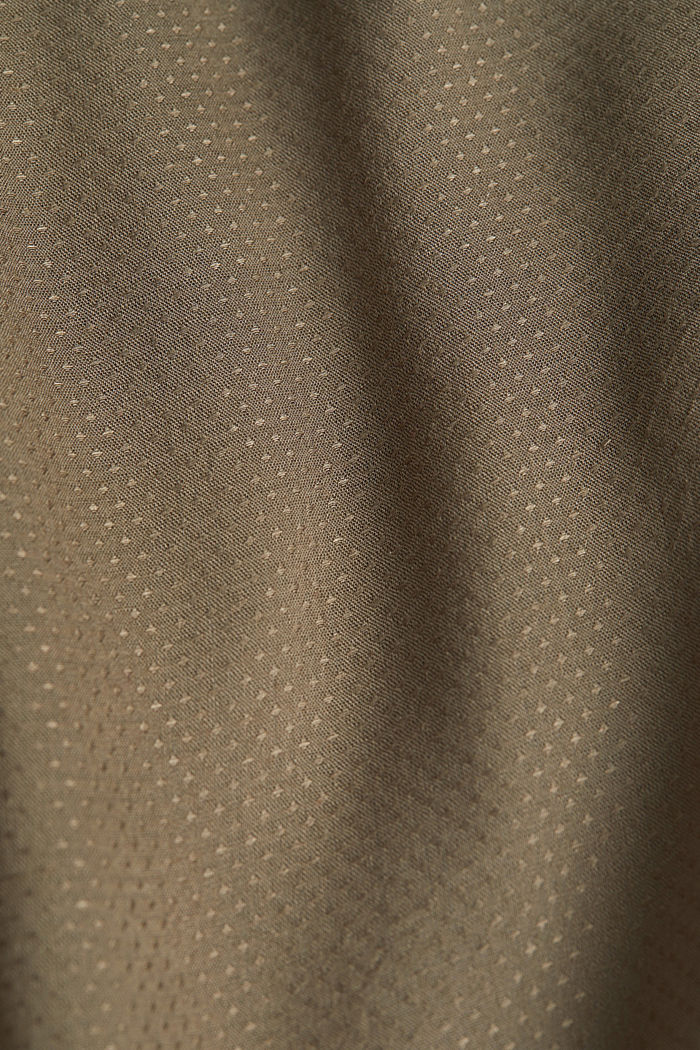 Jacquard nursing blouse, LIGHT KHAKI, detail image number 4
