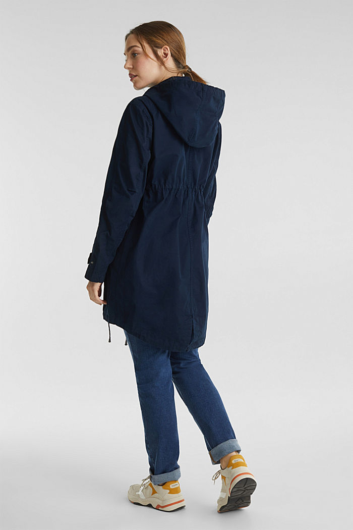 Two-in-one parka, 100% cotton, NIGHT BLUE, detail image number 2