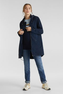 Two-in-one parka, 100% cotton, NIGHT BLUE, detail