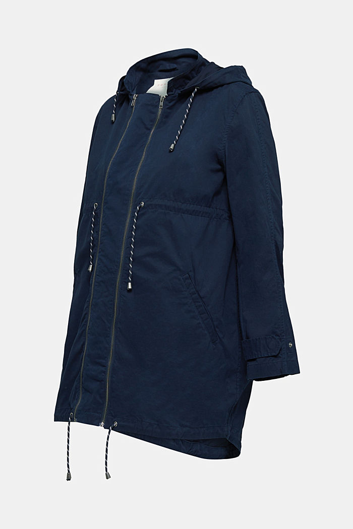 Two-in-one parka, 100% cotton, NIGHT BLUE, detail image number 5