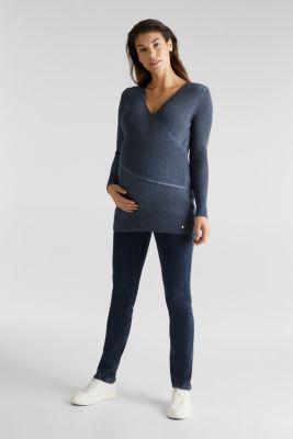 Melange jumper with a nursing function, LCNIGHT BLUE, detail