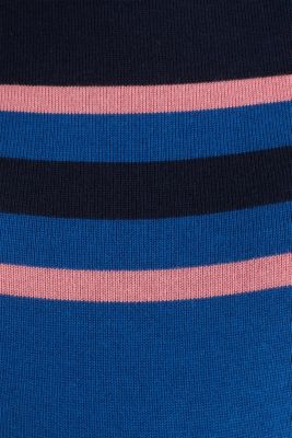 Colour block jumper with stripes, LCBRIGHT BLUE, detail