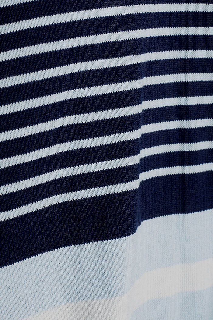 Cardigan with a tie-around belt, NIGHT BLUE, detail image number 4