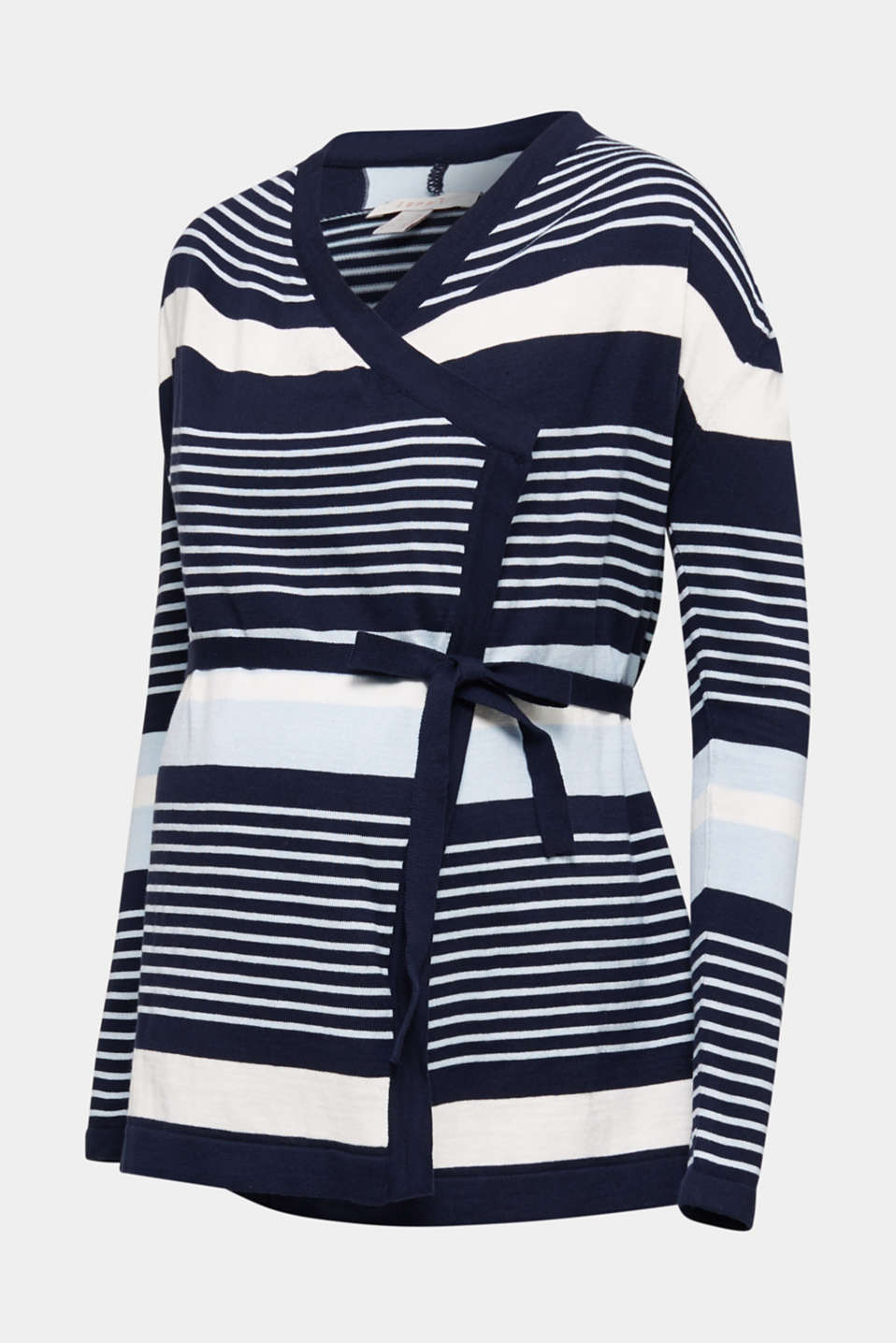 Cardigan with a tie-around belt, LCNIGHT BLUE, detail image number 6