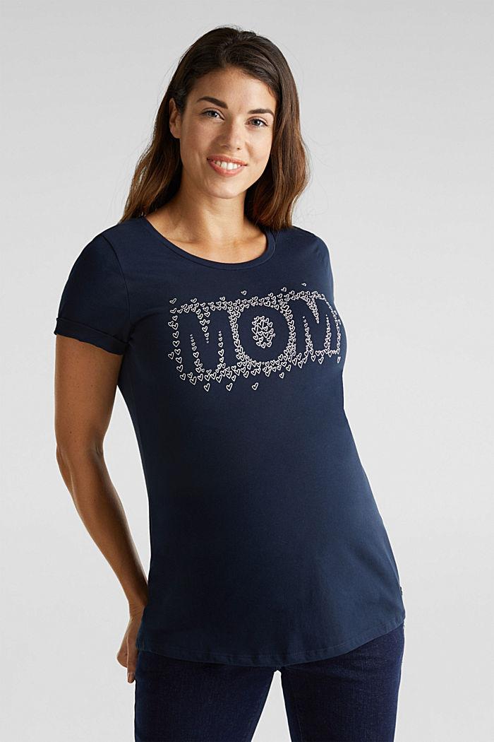 Shirt mit Print, 100% Baumwolle, NIGHT BLUE, detail image number 0