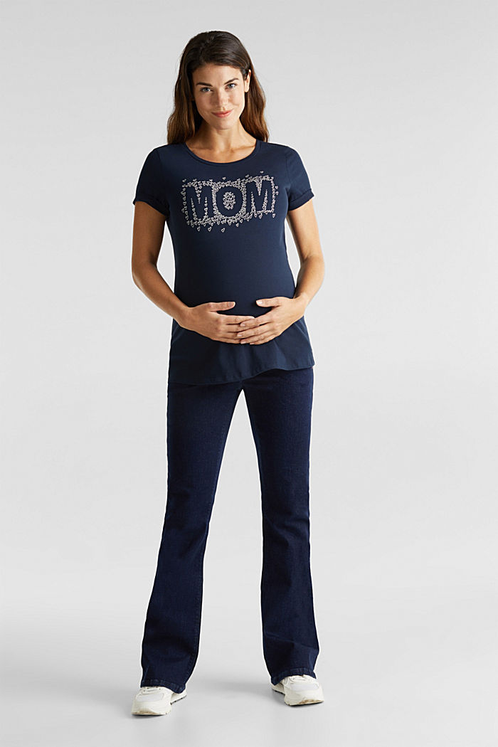 Shirt mit Print, 100% Baumwolle, NIGHT BLUE, detail image number 1