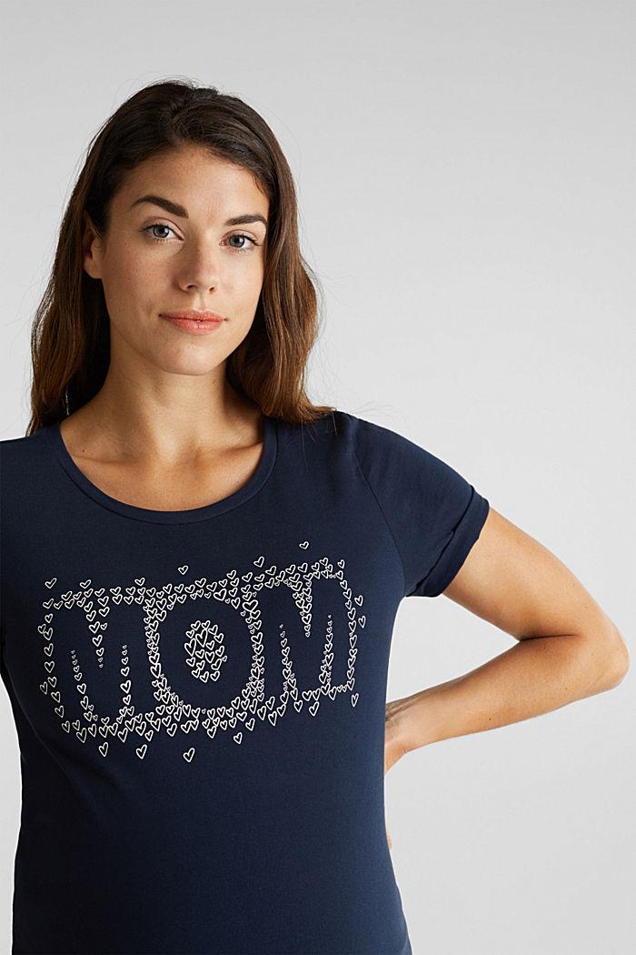 Shirt mit Print, 100% Baumwolle, NIGHT BLUE, detail image number 2