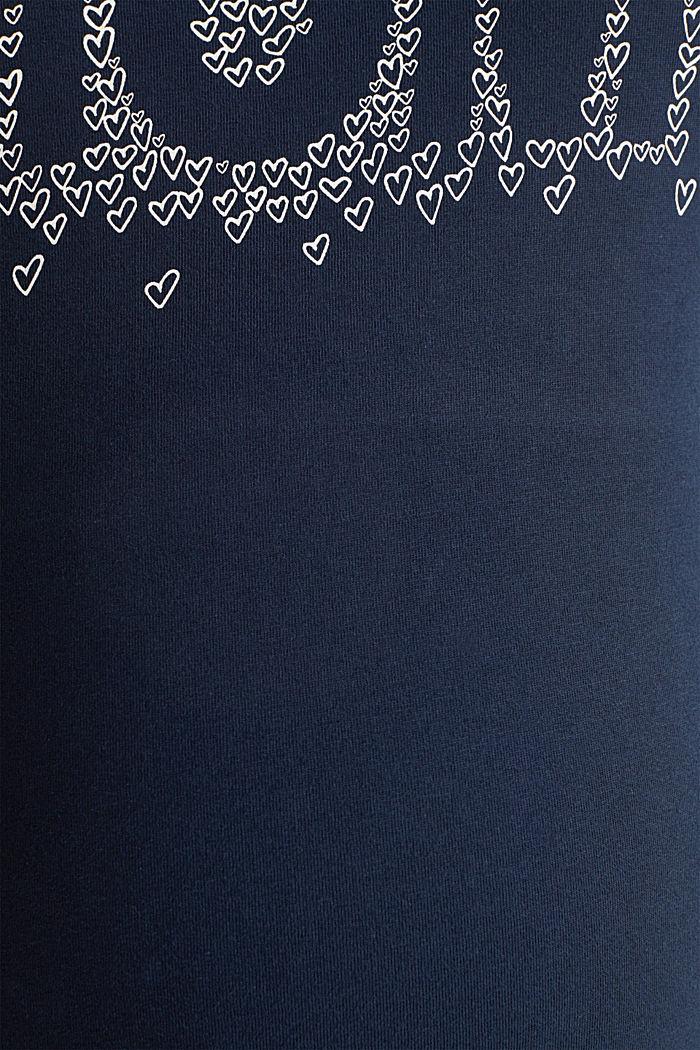 Shirt mit Print, 100% Baumwolle, NIGHT BLUE, detail image number 4