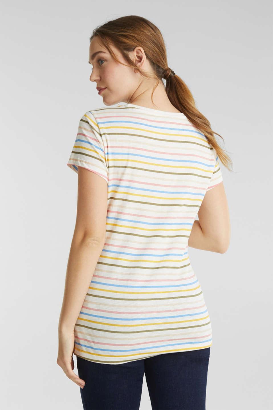 Slub top with stripes, 100% cotton, LCOFF WHITE, detail image number 3