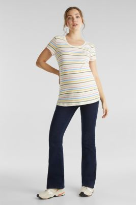 Slub top with stripes, 100% cotton, LCOFF WHITE, detail