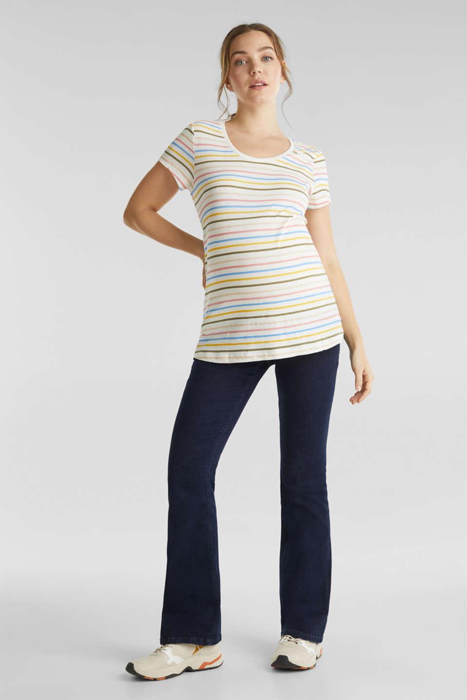 Slub top with stripes, 100% cotton, LCOFF WHITE, detail image number 1