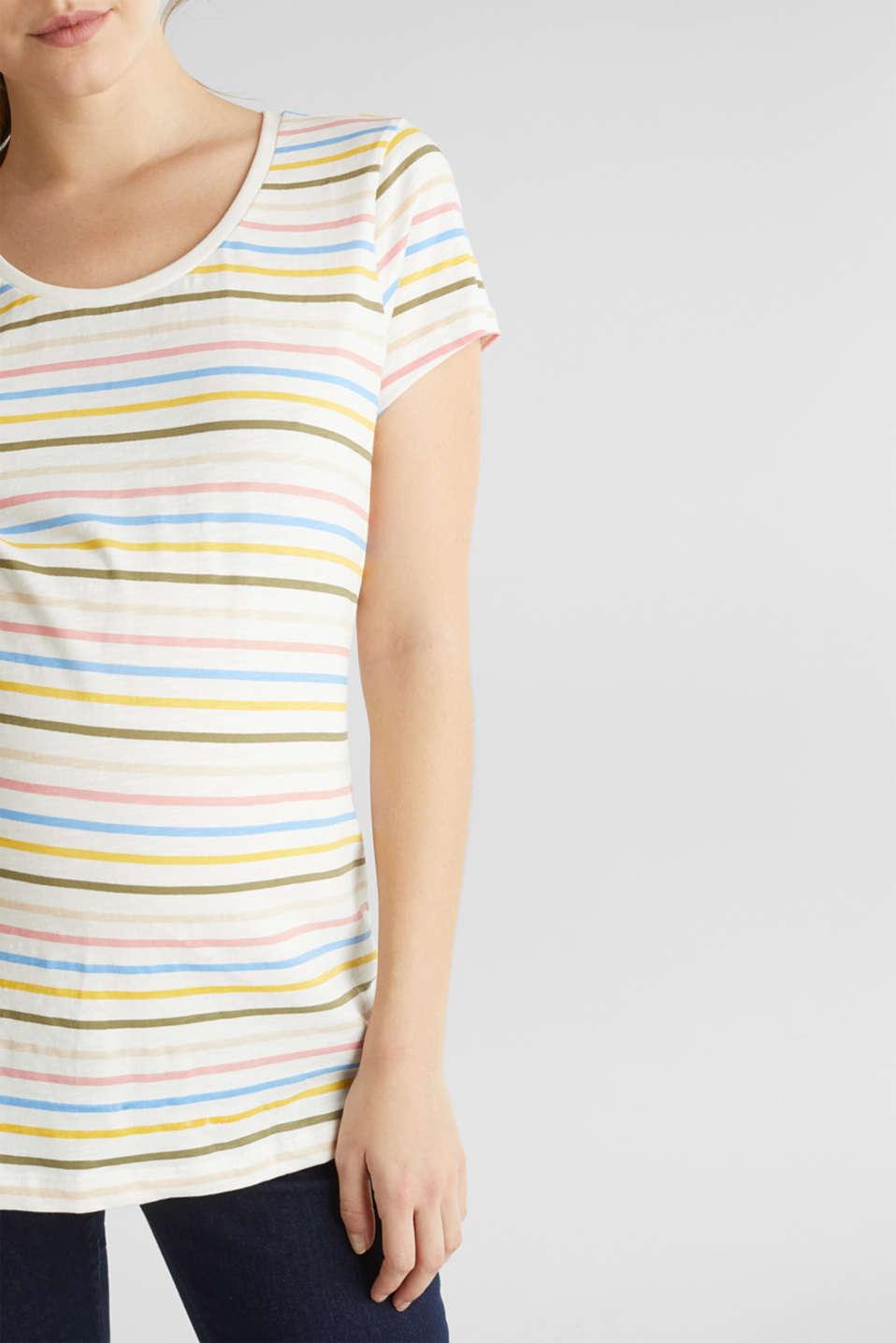 Slub top with stripes, 100% cotton, LCOFF WHITE, detail image number 2