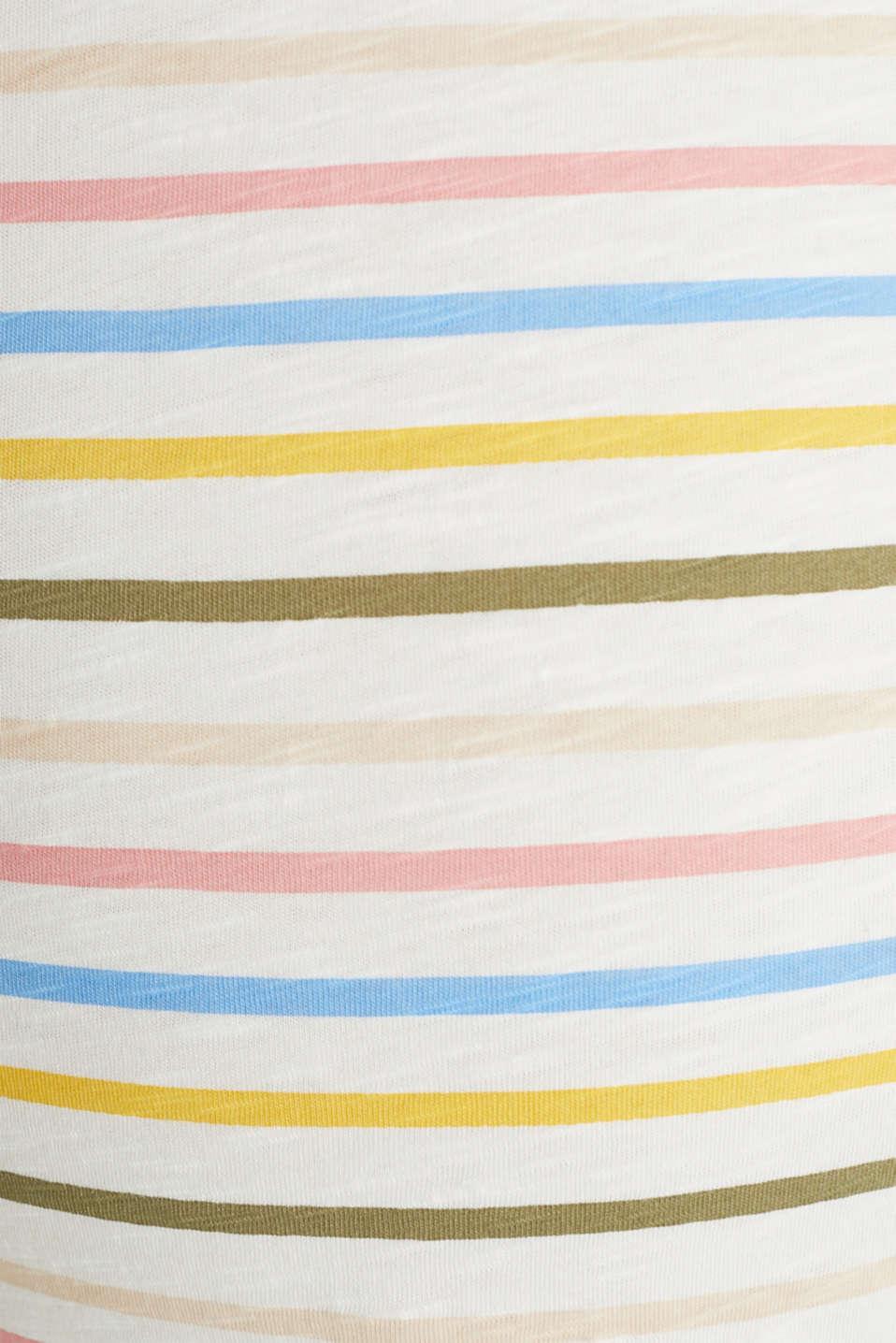 Slub top with stripes, 100% cotton, LCOFF WHITE, detail image number 4