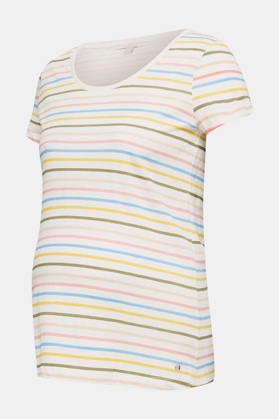 Slub top with stripes, 100% cotton, LCOFF WHITE, detail image number 6