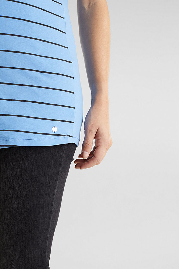 Stretch-Shirt mit Frontprint, BLUE, detail image number 2