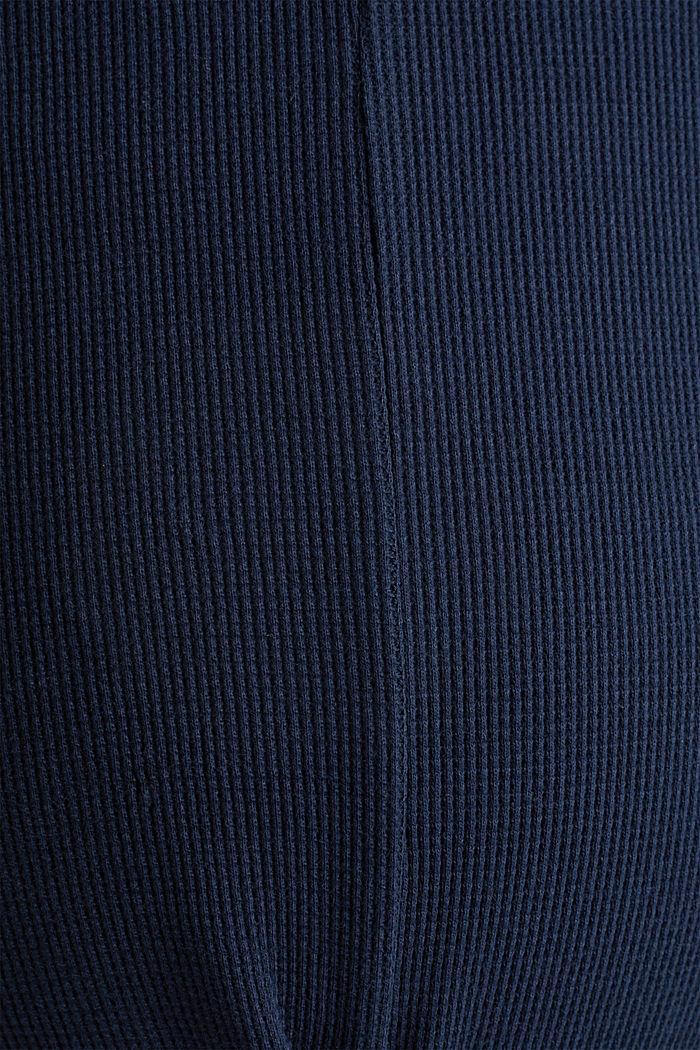 Piqué-Longsleeve, 100% Baumwolle, NIGHT BLUE, detail image number 4
