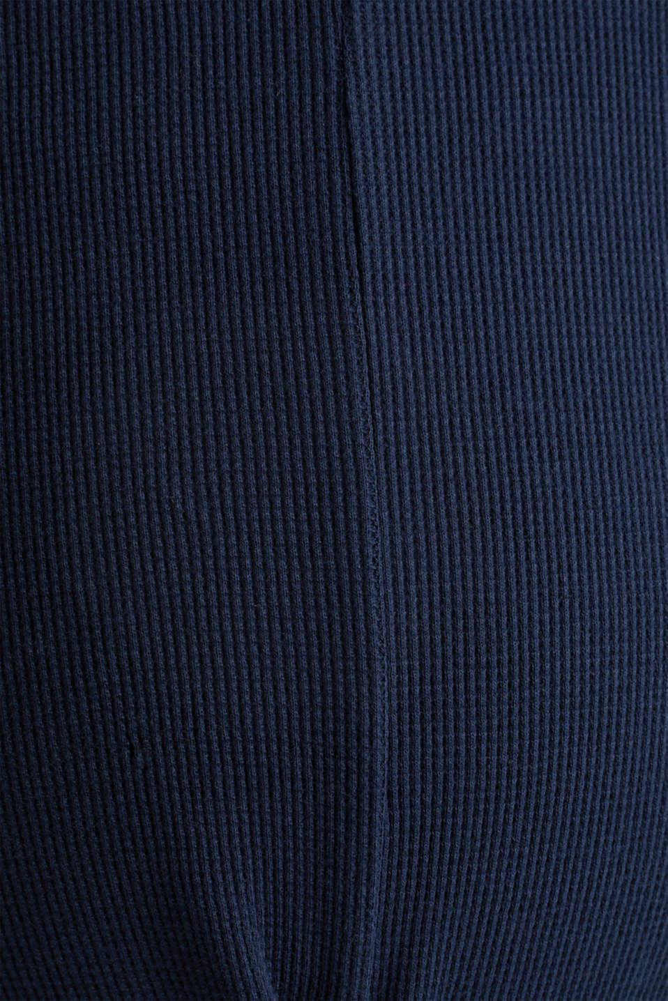 Piqué long sleeve top with a draped effect, 100% cotton, LCNIGHT BLUE, detail image number 4