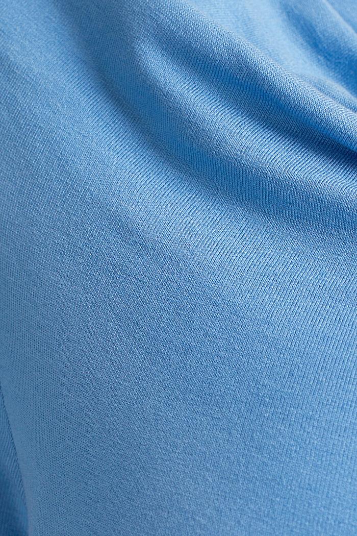Cowl neck nursing top, BLUE, detail image number 4