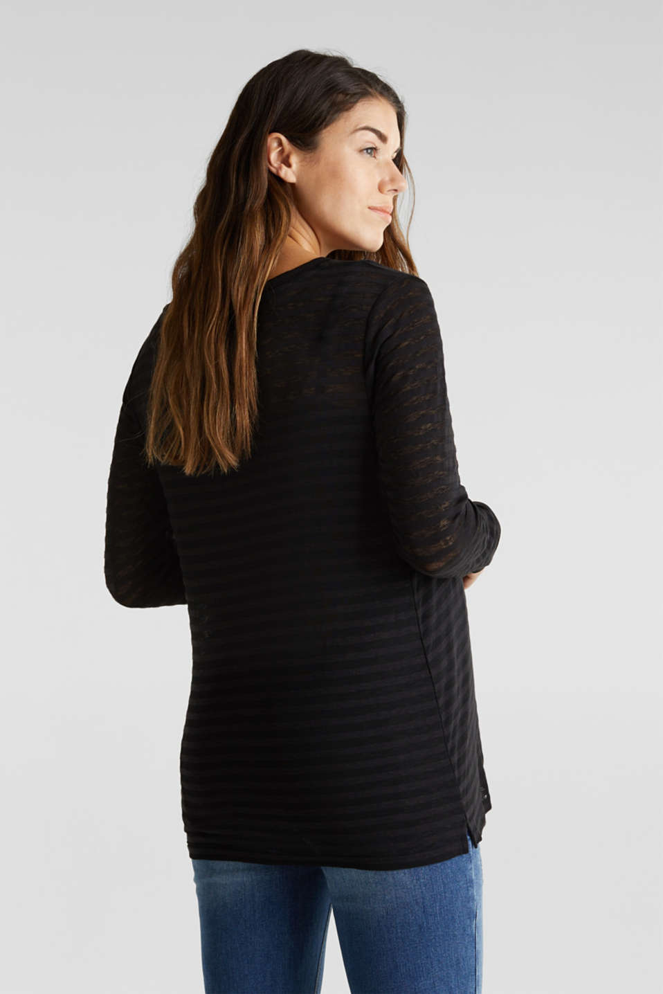 2 in 1: Long sleeve top with a nursing top, BLACK, detail image number 3