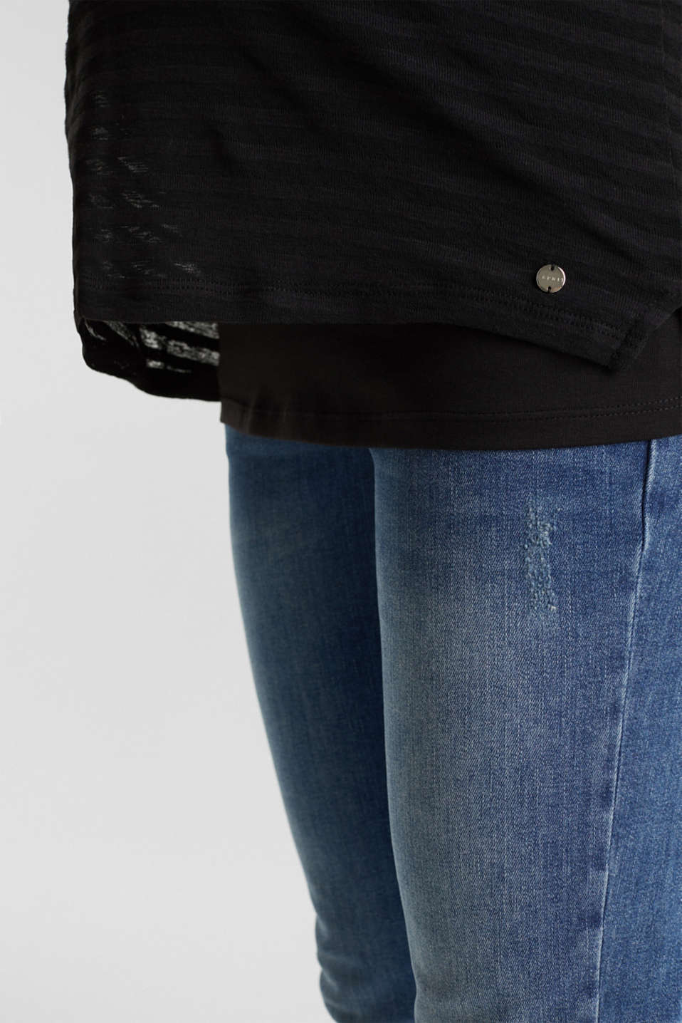 2 in 1: Long sleeve top with a nursing top, BLACK, detail image number 5