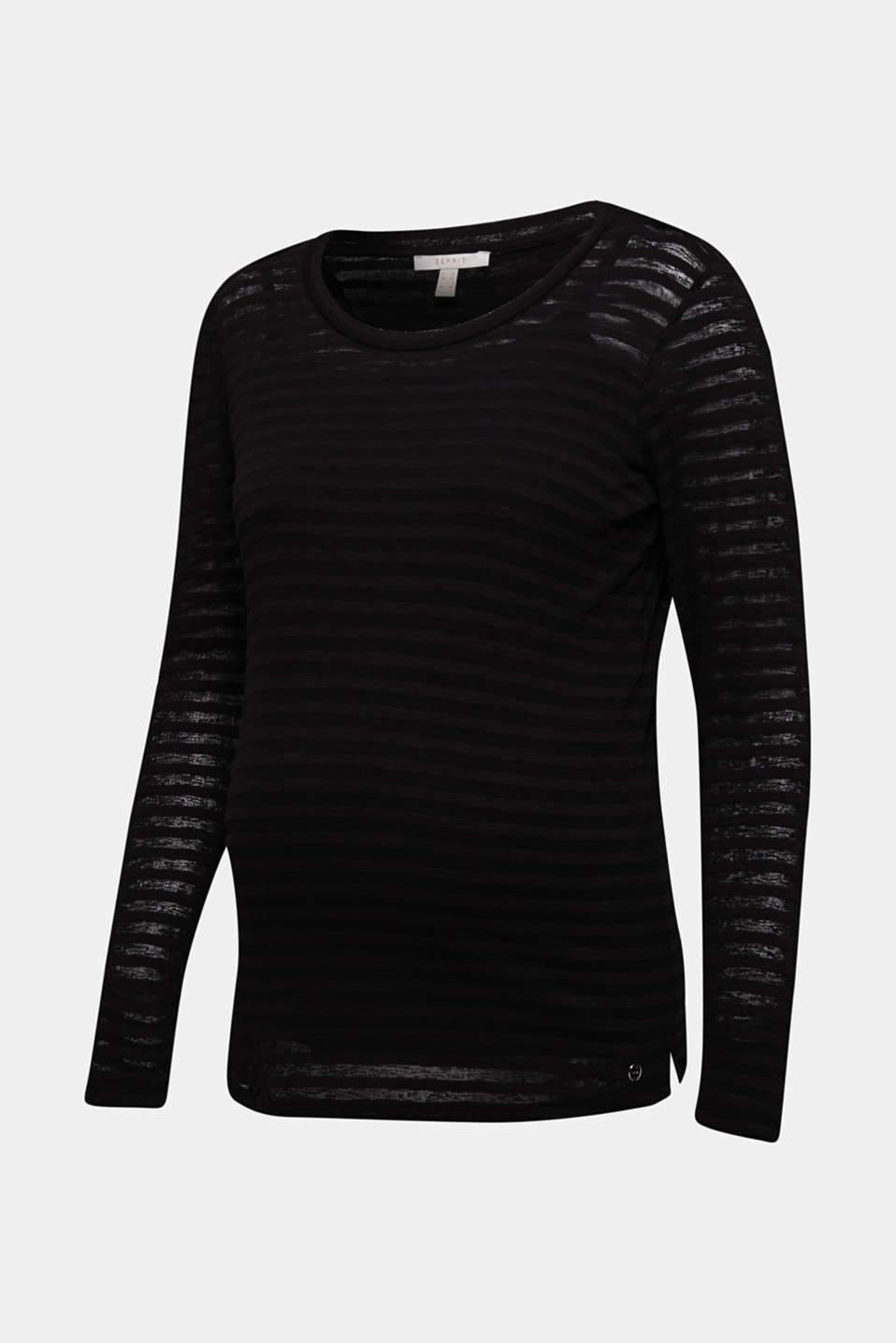 2 in 1: Long sleeve top with a nursing top, BLACK, detail image number 7