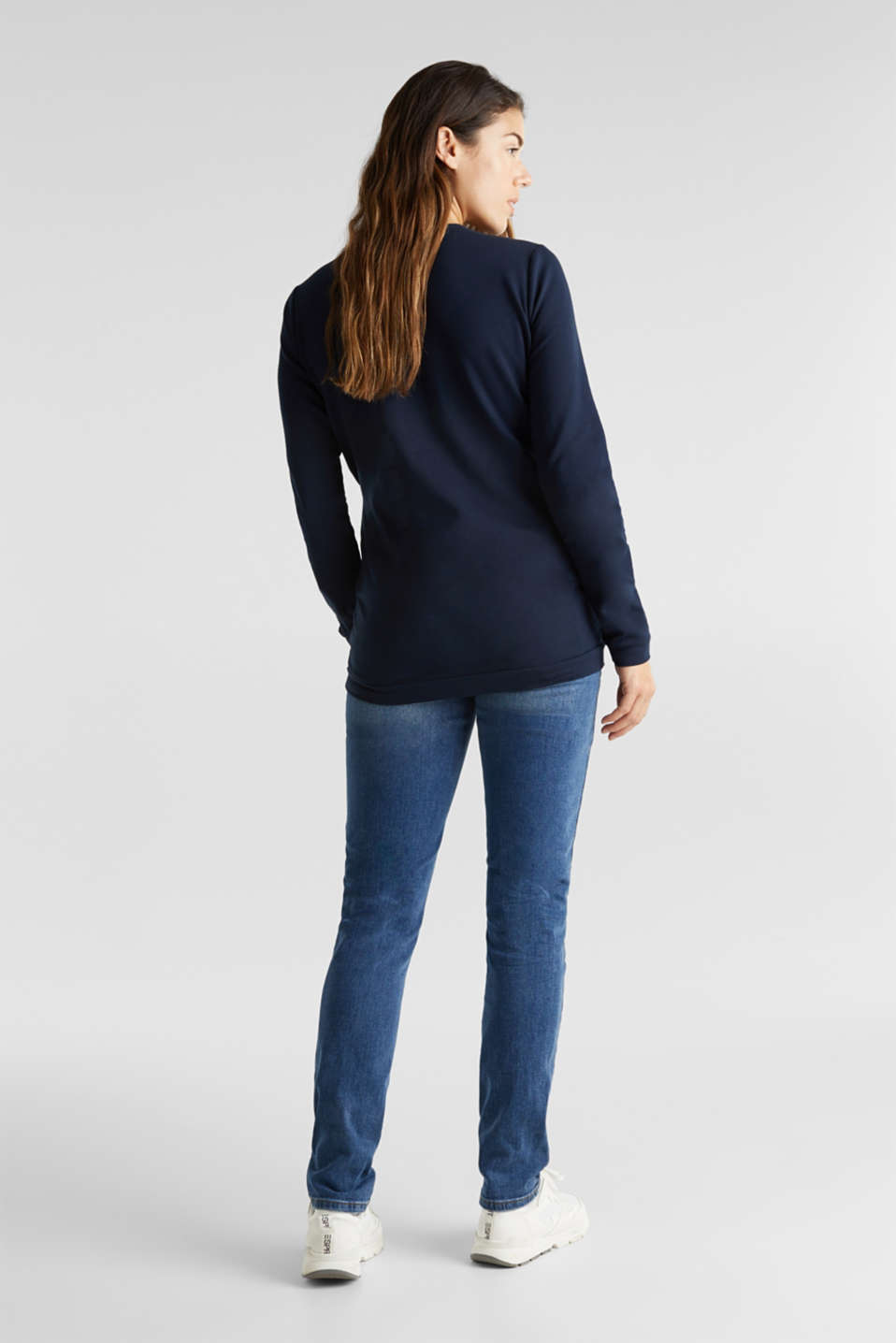 Stretch jeans with an over-bump waistband, LCMEDIUM WASH, detail image number 2