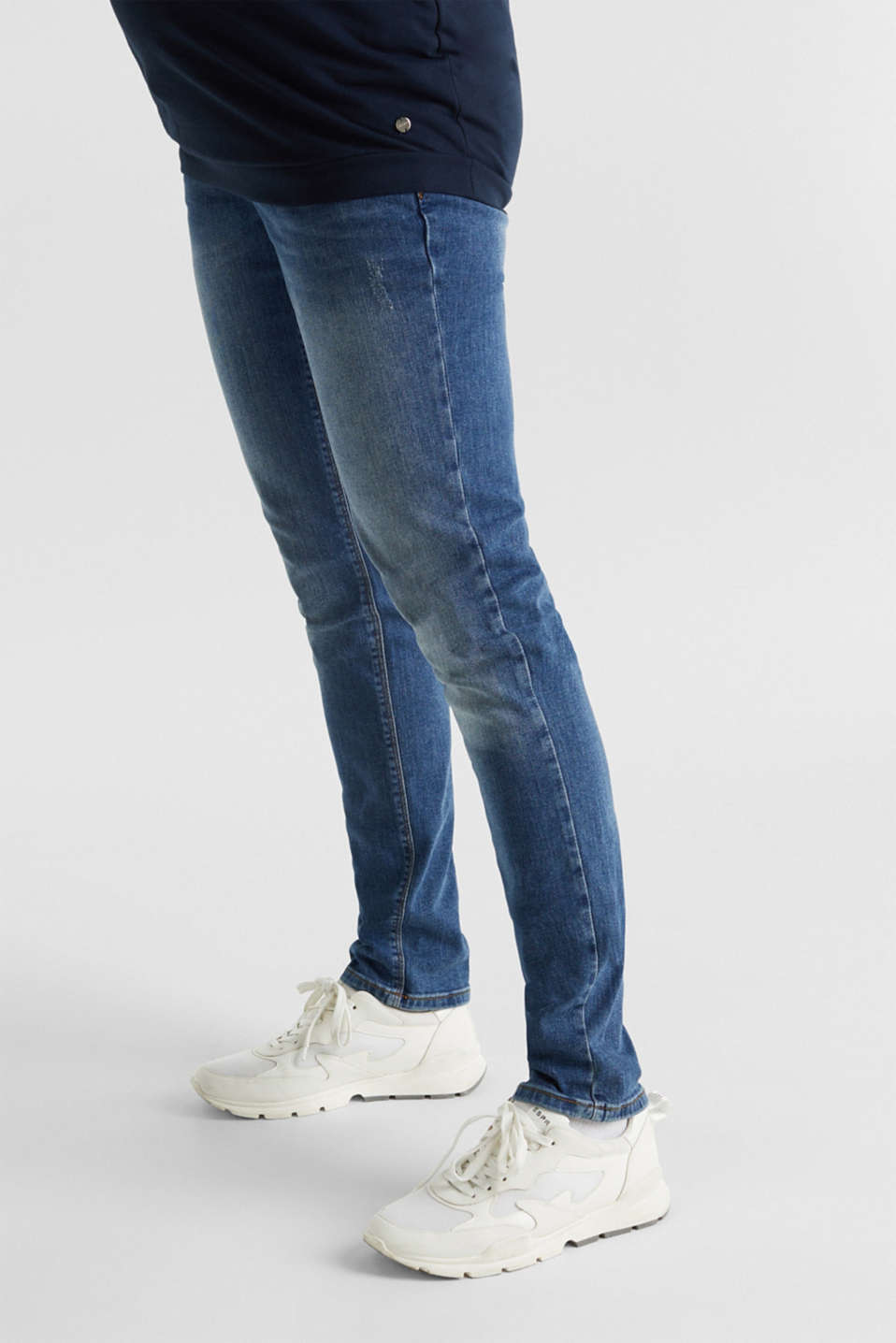 Stretch jeans with an over-bump waistband, LCMEDIUM WASH, detail image number 5