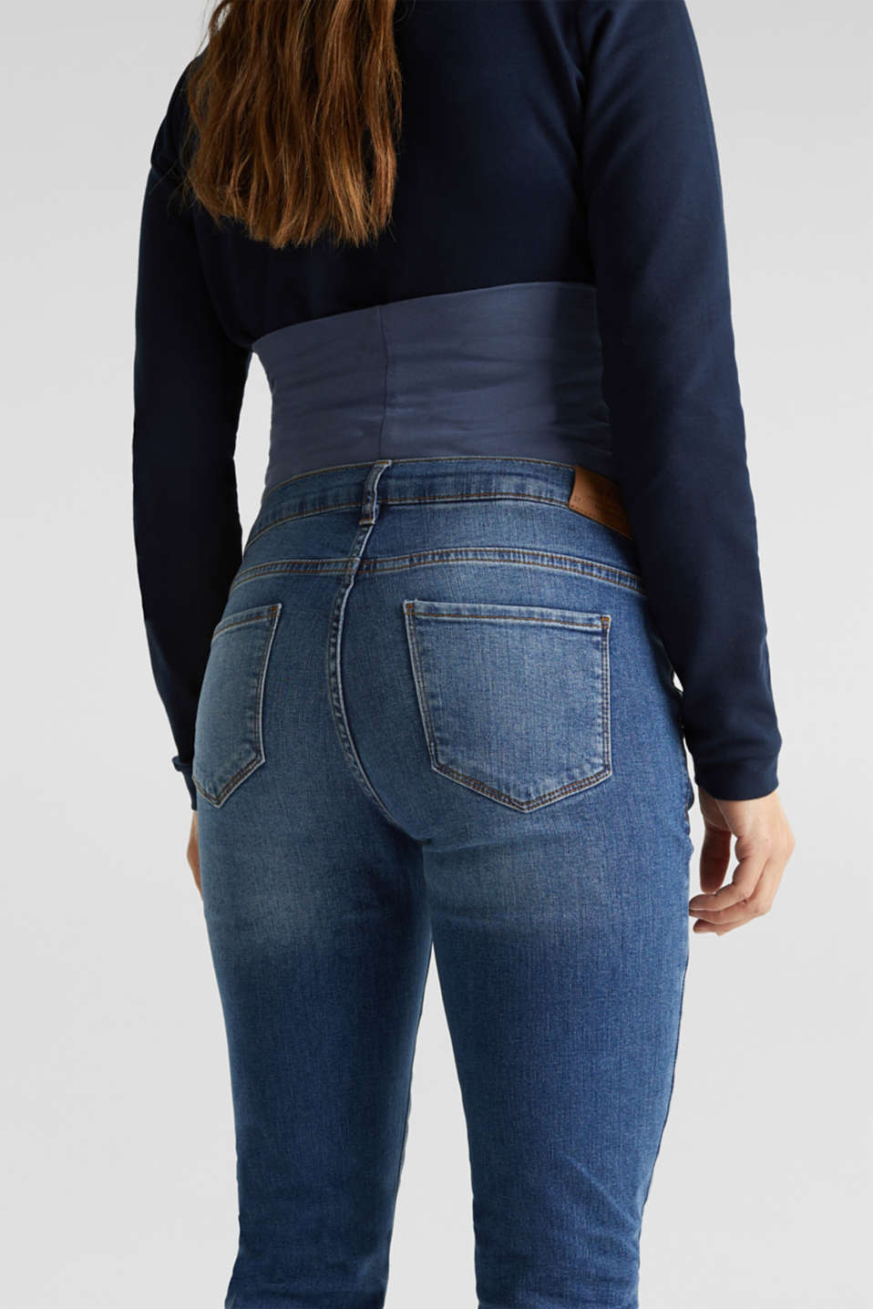 Stretch jeans with an over-bump waistband, LCMEDIUM WASH, detail image number 4