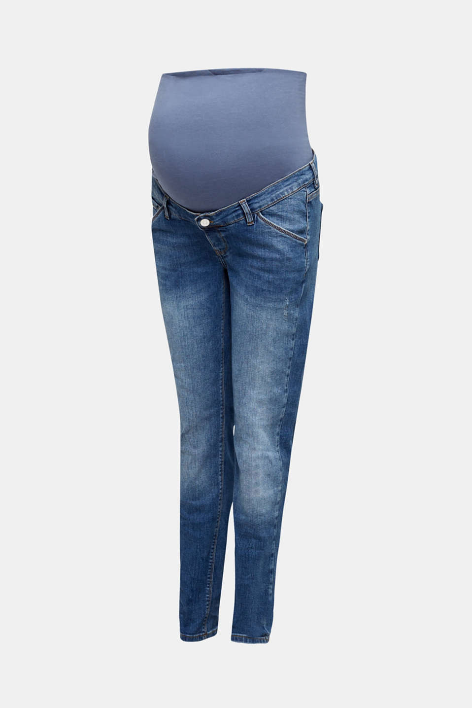 Stretch jeans with an over-bump waistband, LCMEDIUM WASH, detail image number 6