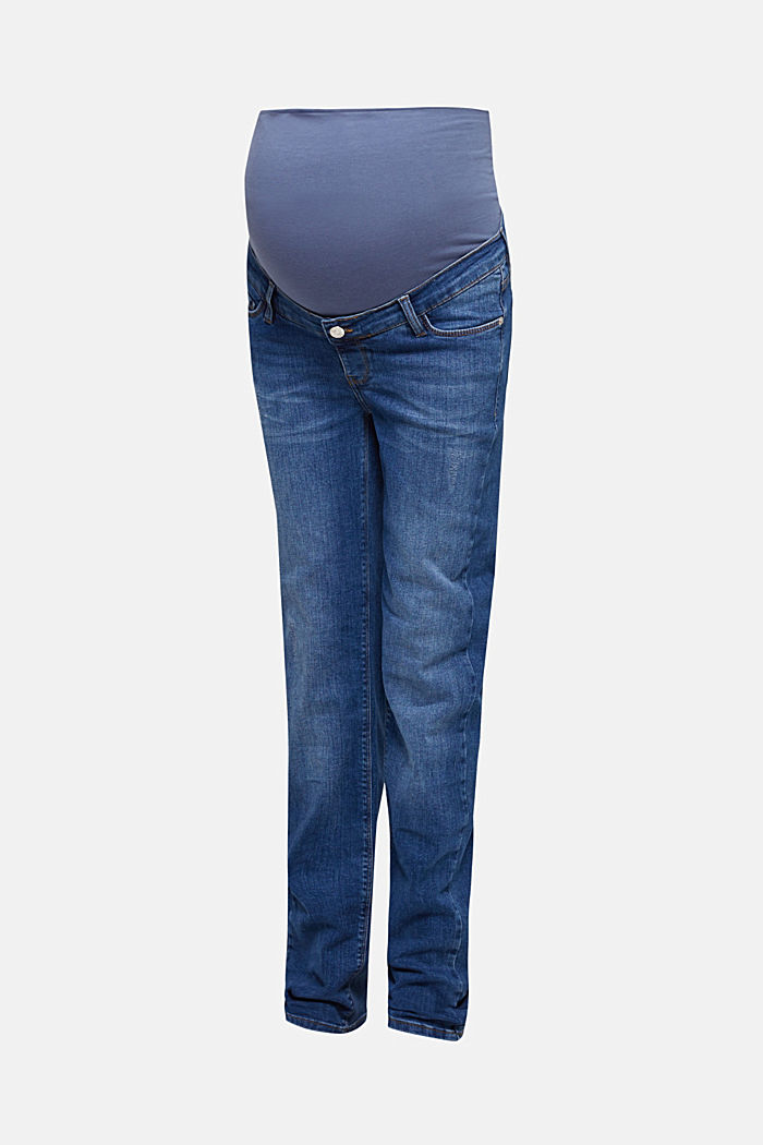 Vintage-style jeans with an over-bump waistband