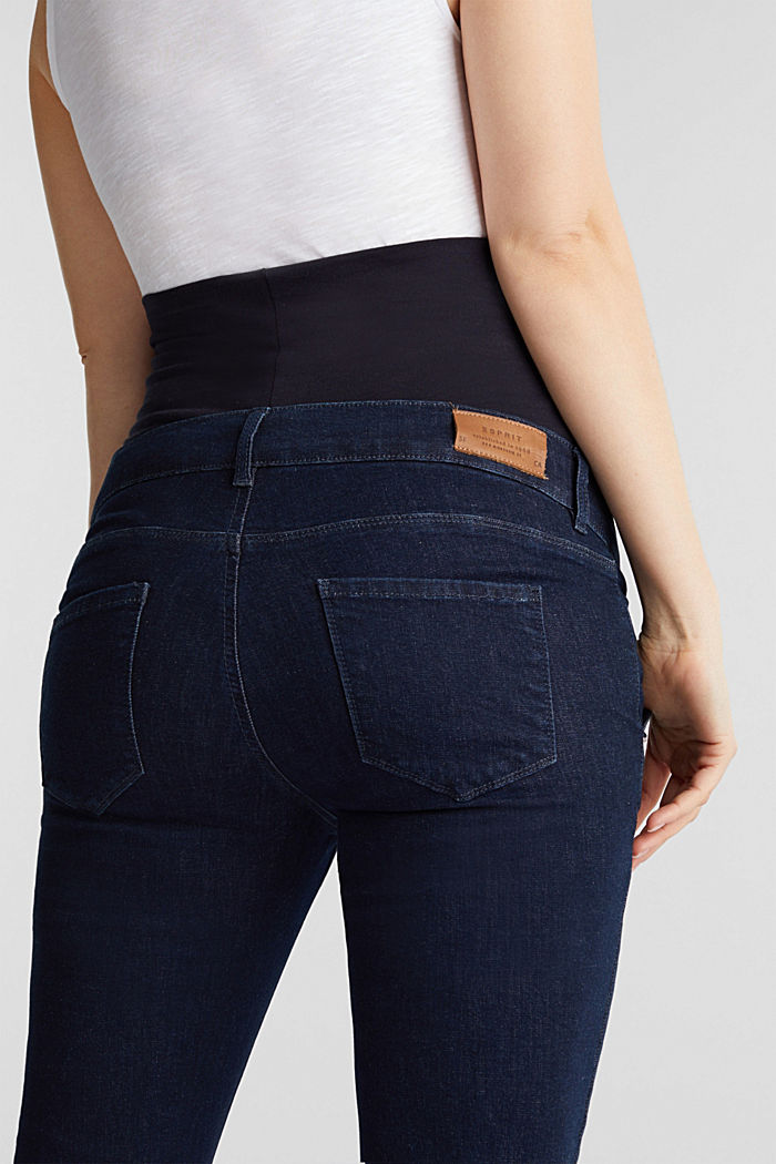 Bootcut jeans with an over-bump waistband, BLUE DARK WASHED, detail image number 5