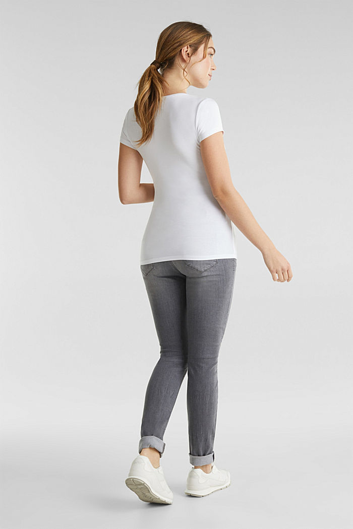 Super stretchy jeans, over-the-bump waistband, GREY DENIM, detail image number 3