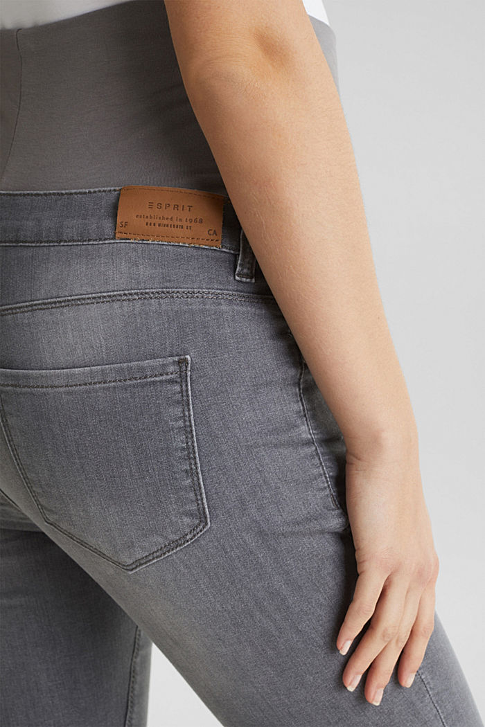 Super stretchy jeans, over-the-bump waistband, GREY DENIM, detail image number 5