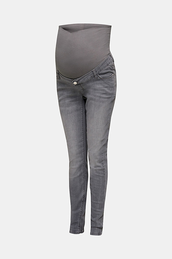 Super stretchy jeans, over-the-bump waistband, GREY DENIM, detail image number 6