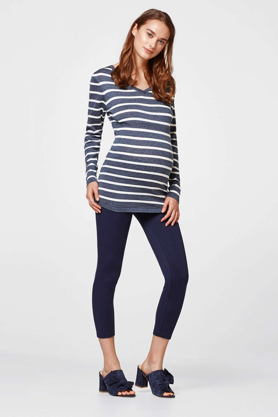 Esprit - Cropped leggings + under-bump waistband
