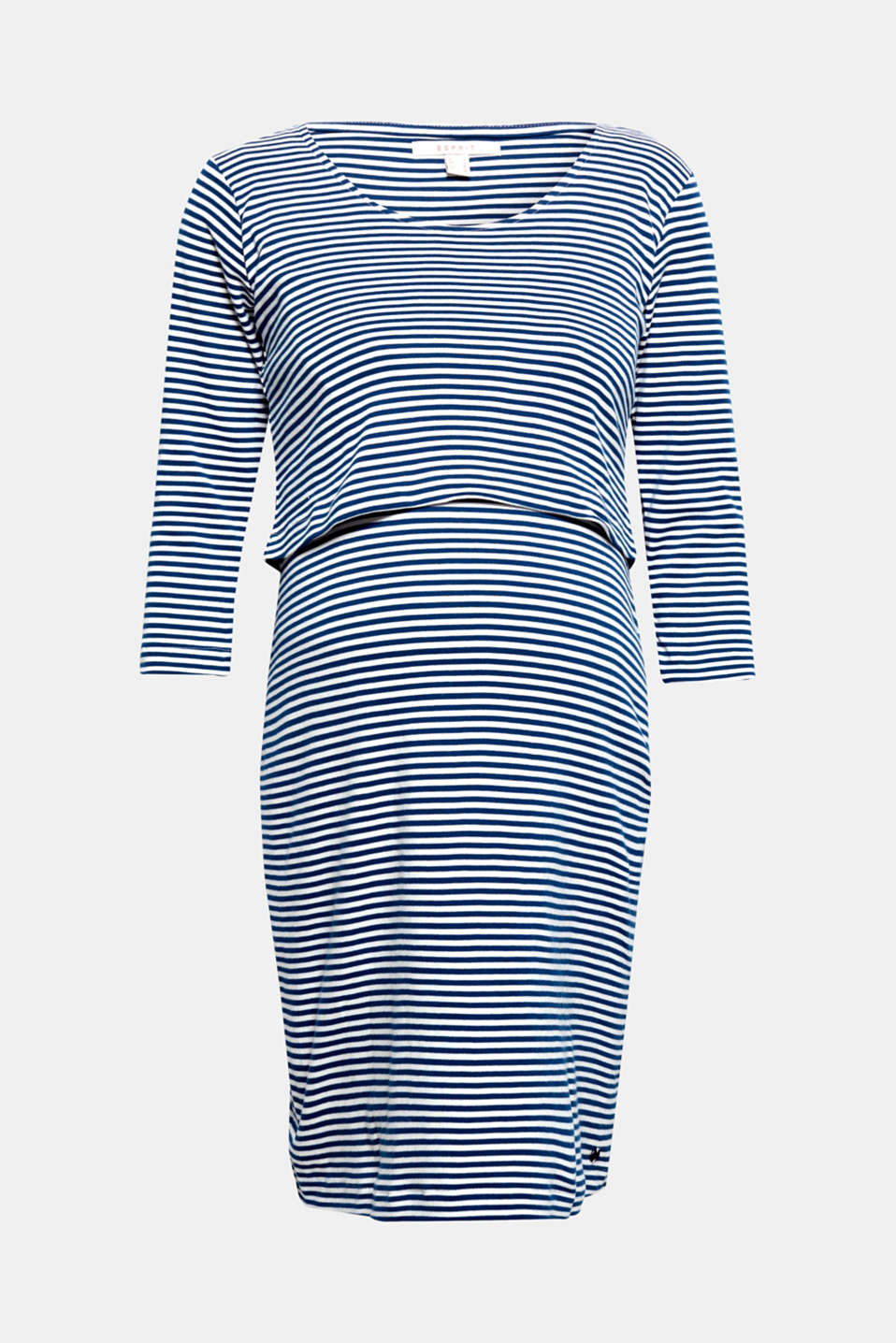 Modern, layered casual stripes: this dress with integrated nursing function allows for discreet and comfortable nursing.