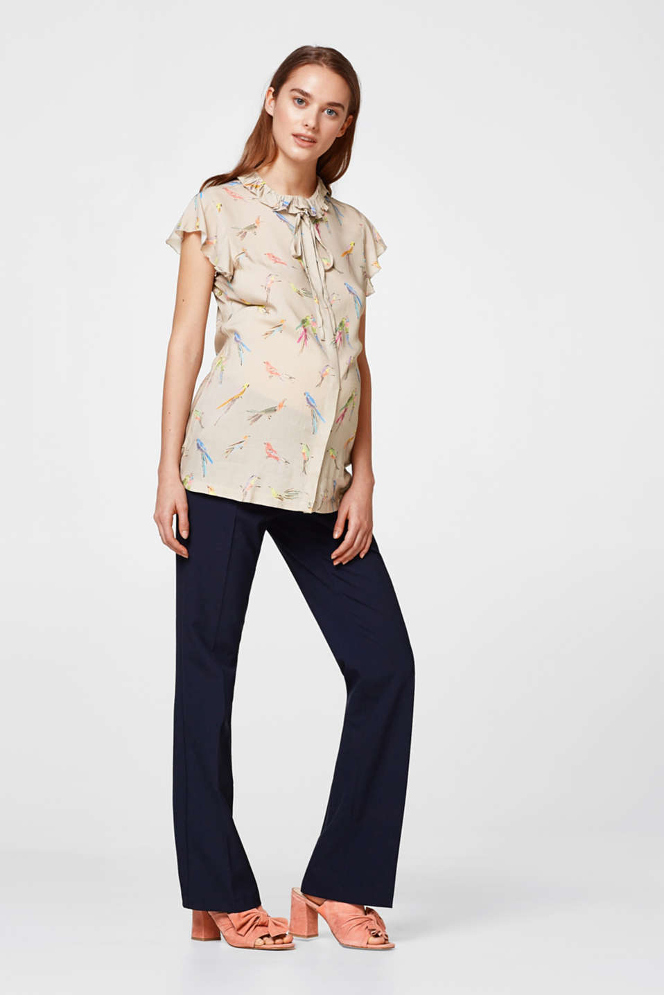 Esprit - Printed blouse with a parrot print