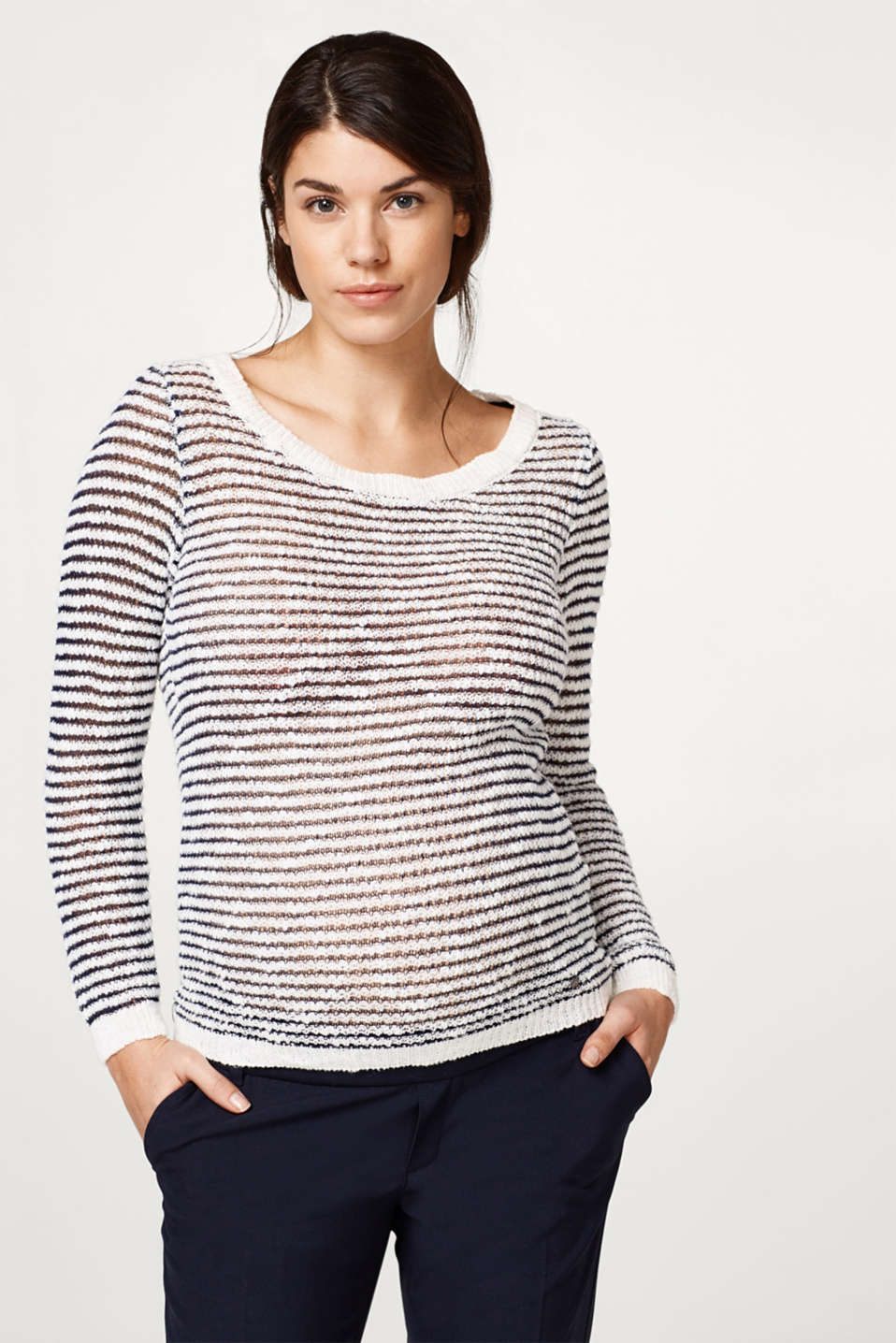 Esprit - Airy striped knitted jumper