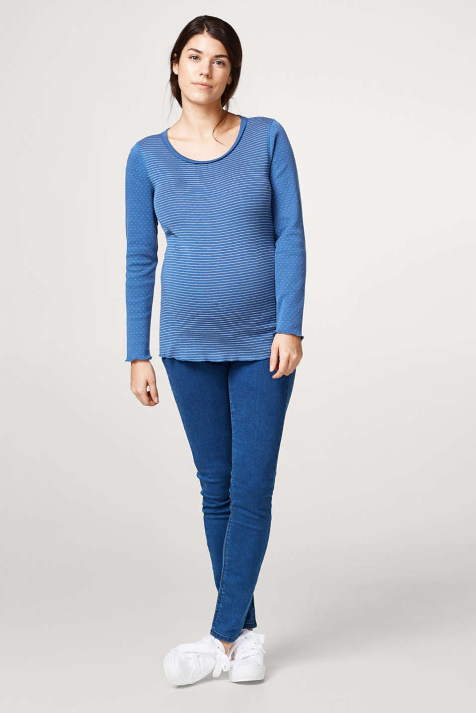 Esprit - Pure cotton jersey long sleeve top