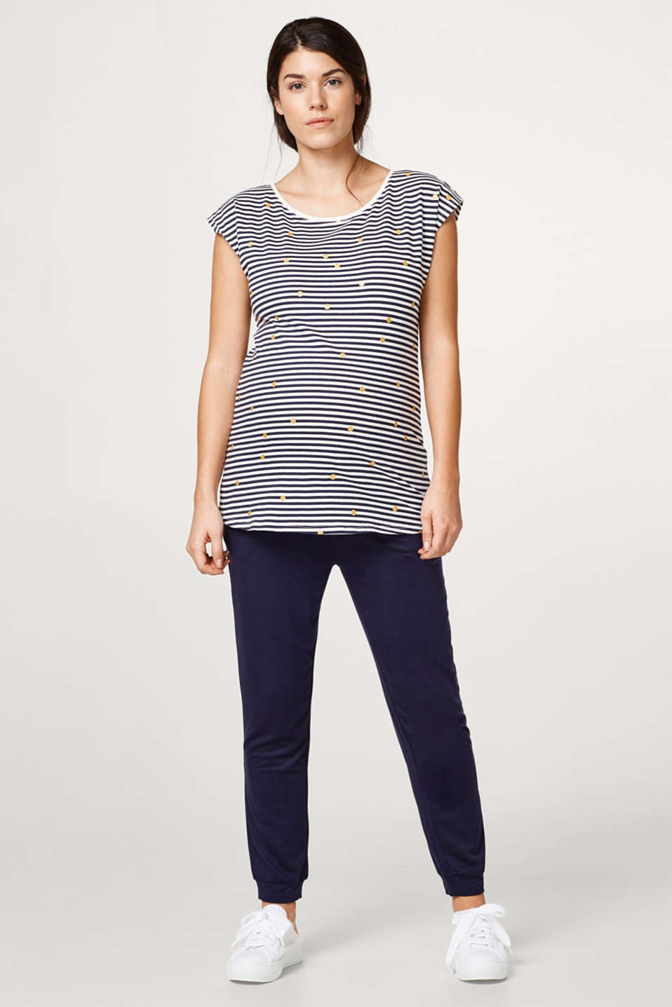 Esprit - Top with glittery polka dots, 100% cotton