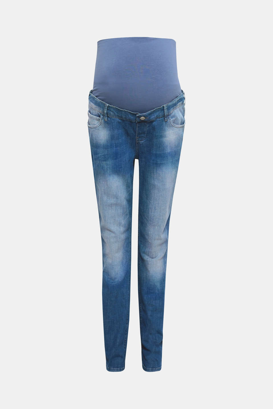 These over-the-bump boyfriend jeans with stylish bleached effects, in a comfortable cut are indisputably cool!