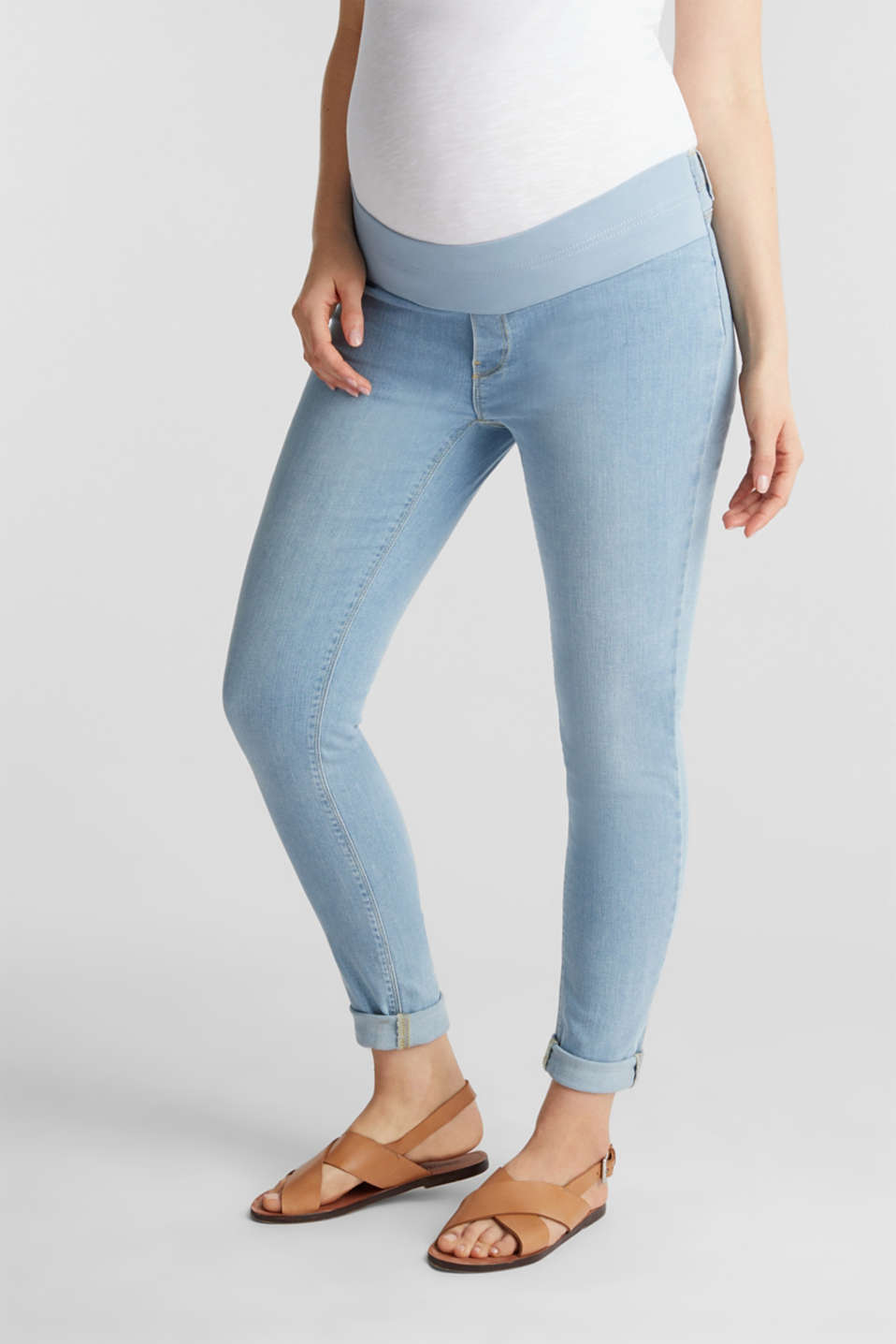 Jeggings with under-bump waistband, LCLIGHTWASH, detail image number 0
