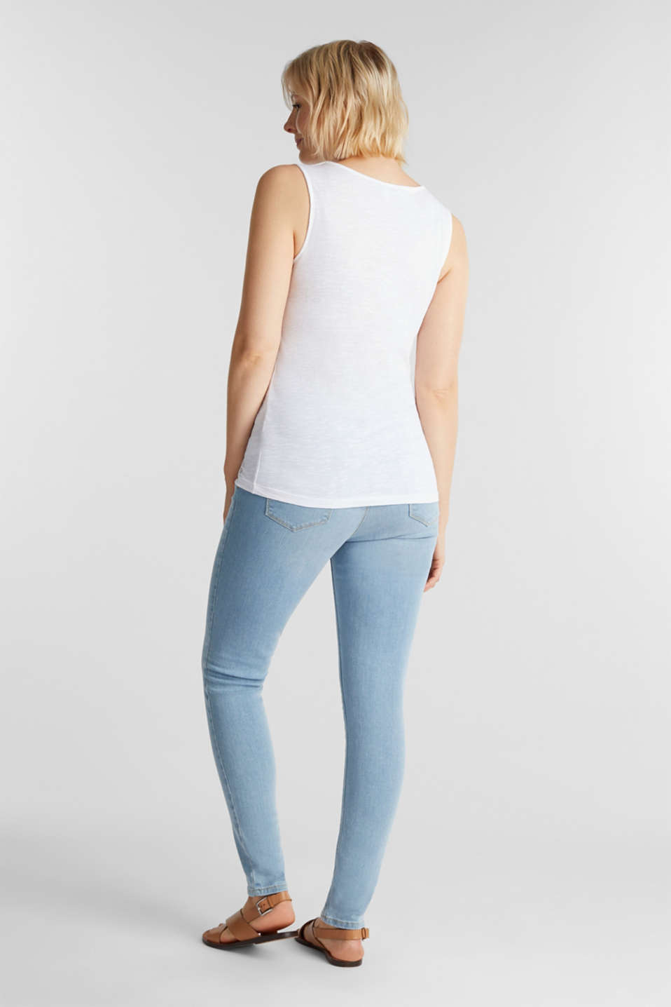 Jeggings with under-bump waistband, LCLIGHTWASH, detail image number 3