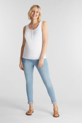 Jeggings with under-bump waistband, LCLIGHTWASH, detail