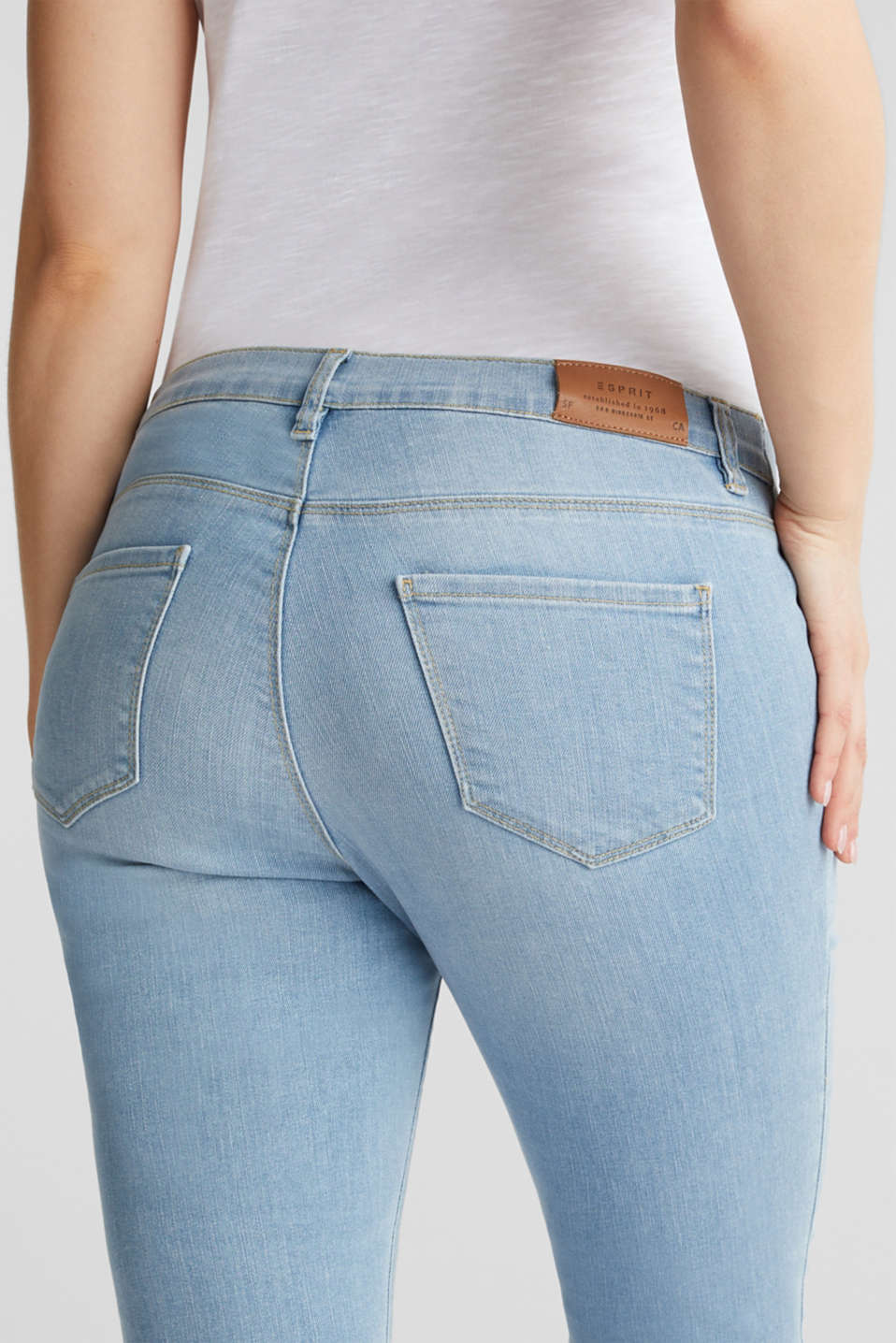 Jeggings with under-bump waistband, LCLIGHTWASH, detail image number 5