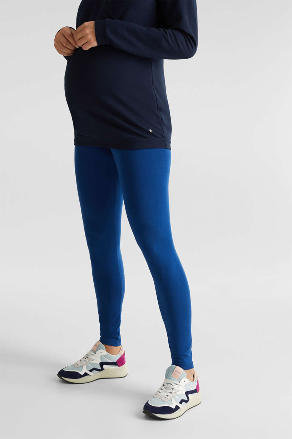Leggings with an under-bump waistband, LCBRIGHT BLUE, detail image number 0
